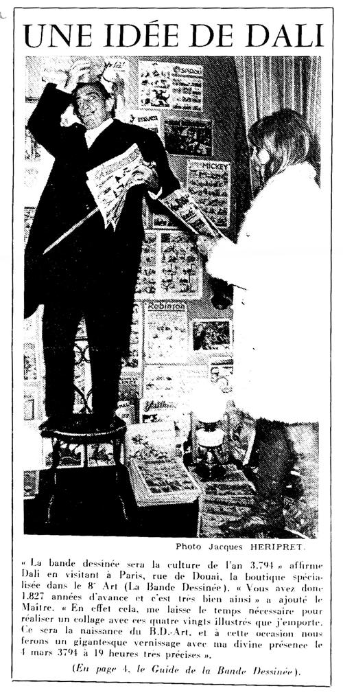 Salvator Dali et l'Art -BD en 1967