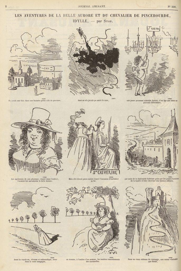 fig-24-stop-les-aventures-de-la-belle-aurore-et-du-chevalier-de-pincebourde-le-journal-amusant-21-06-1862