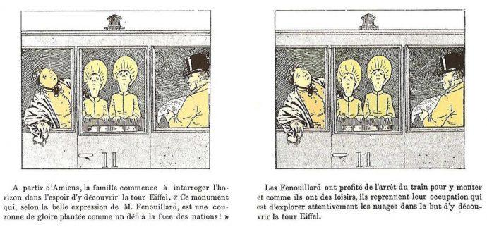 Fig. 82 – Christophe, La Famille Fenouillard, éd. A. Colin, 2004, détails pl. 5 et 6