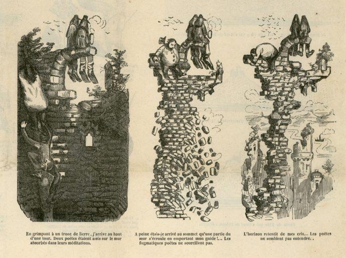 Fig. 85 – G. Doré, détails extraits de Voyage sur les bords du Rhin, n° 175, Journal pour rire, 6 juin 1851
