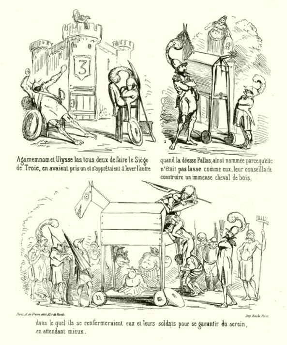 Fig. 92 – Baric et Humbert, La Prise de Troie, Arnauld de Vresse, 1863, pl. 1