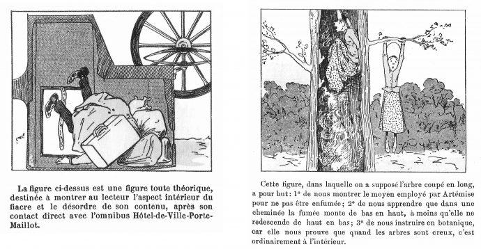 Fig. 94 – Christophe, cases extraites du Savant Cosinus et de la Famille Fenouillard, Le Petit Français illustré, 1899 et 1891